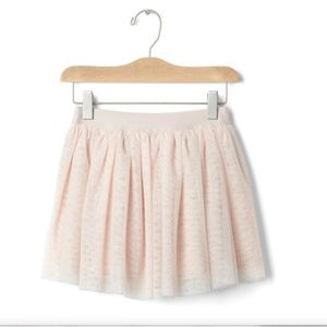 Gap girls soft pink shimmering tulle skirt